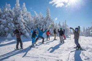 Ski School posing during a lesson.